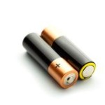 two-batteries-white-background-isolated-48176904
